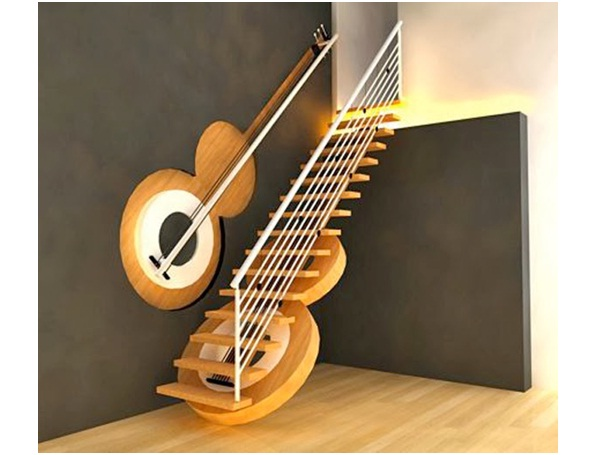 Guitar Staircase-Surprising And Unusual Things Shaped Like A Guitar