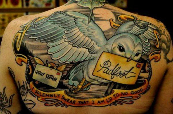 Talk about detailed-Best Harry Potter Tattoos