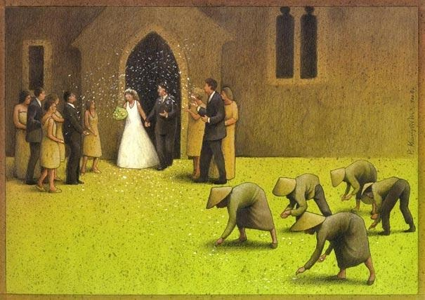 The difference in what we do-Thought-Provoking Satirical Illustrations By Pawel Kuczynski