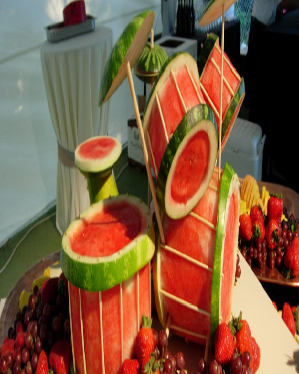 Drum Set Watermelon-Amazing Watermelon Art