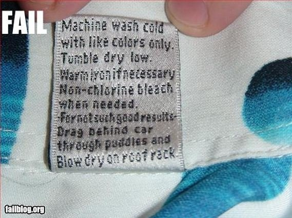 Well that is useful-12 Hilarious Clothing Tags You'll Ever See