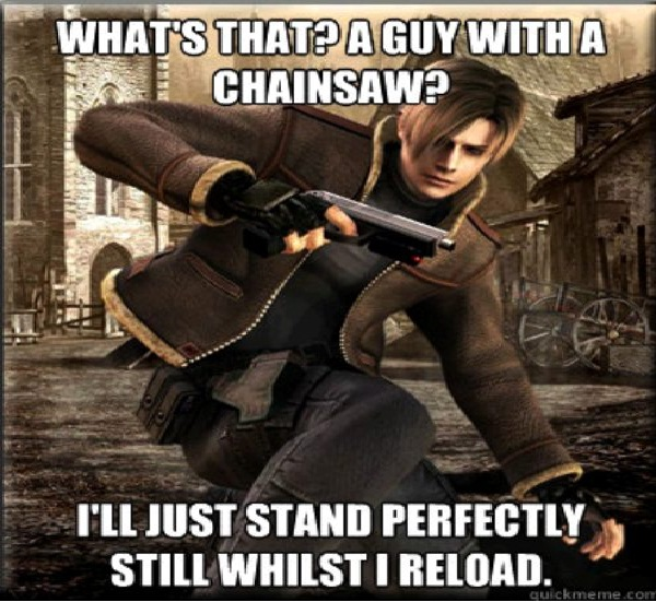 Chainsaw killers need movement-Worst Video Game Logic