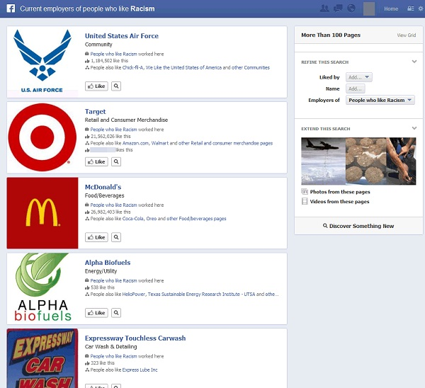 Interesting results-Funny Facebook Graph Searches