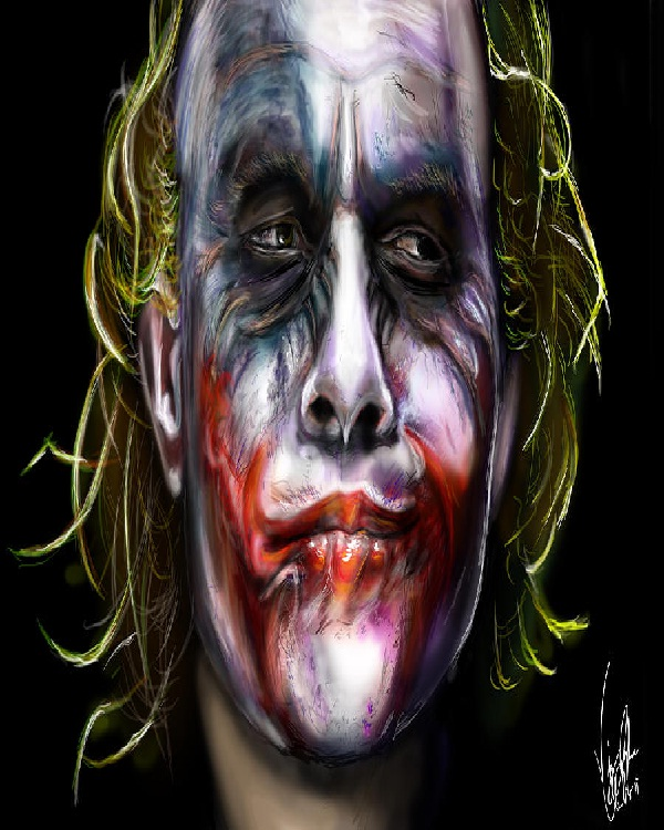 Lifelike-15 Best Joker Drawings That Give You Nightmares