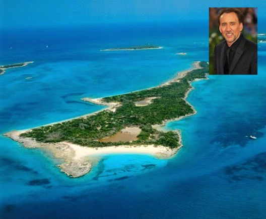 Nicholas Cage-Celebrities Who Own A Private Island