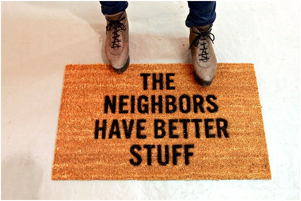 Go To The Neighbors-12 Creative And Funny Doormats Ever