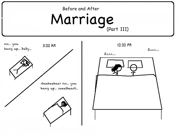 Late nights are over-12 Hilarious Before And After Marriage Pictures