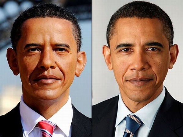 Barack Obama-Celebs With Their Wax Statues