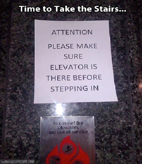 Step With Caution-Absolutely Hilarious Elevator Notes