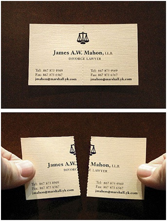 Divorce Lawyer - Two Cards In One-Funniest Business Cards