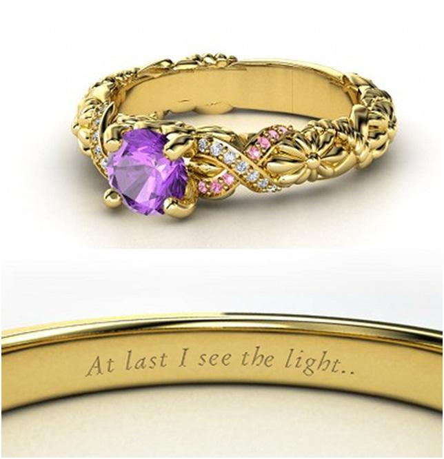 Rapunzel Engagement Ring-Disney Engagement Rings