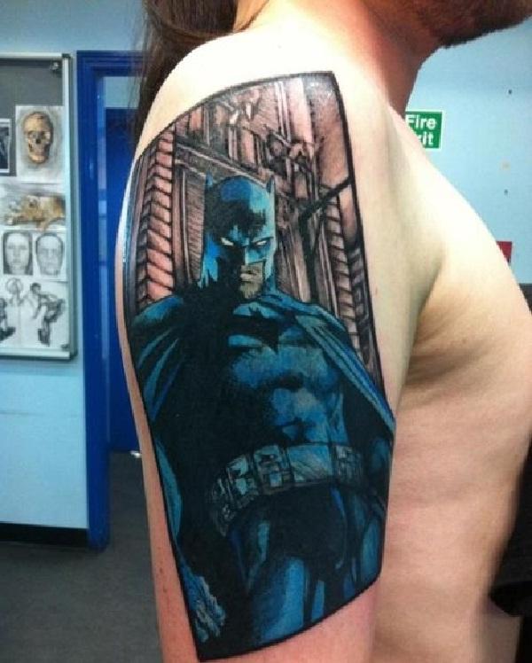 Posing-Batman 3D Tattoos
