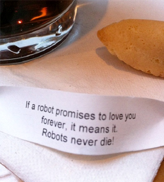 Robot Love Is Forever-Hilarious Fortune Cookies