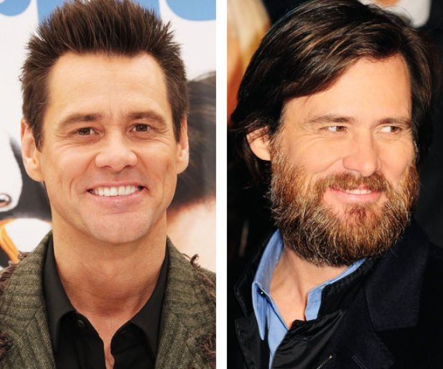 Jim Carey-12 Images That Show A Beard Makes You Look Different