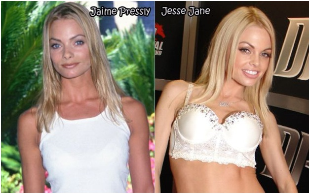 Jaime Pressly and Jesse Jane-Celebrities & Their Pornstar Lookalikes