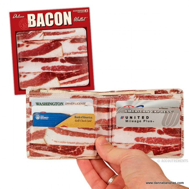 A wallet?-Craziest Products Inspired By Bacon