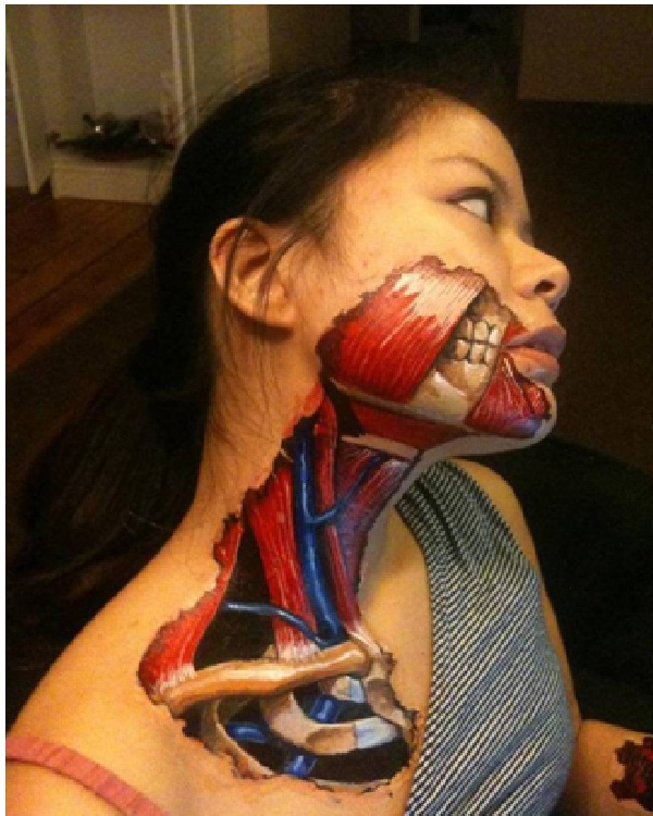Muscular System-Best Halloween Body Paintings
