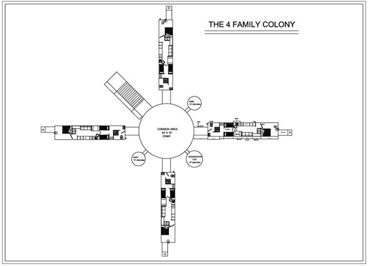 The Four Family Colony-Awesome House Built In An Underground Pothole