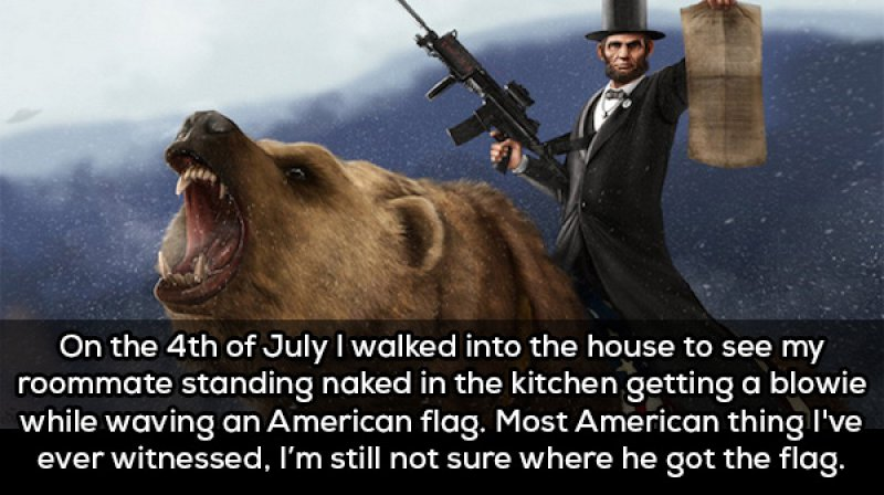 The Most American Thing Ever-15 People Confess The Craziest Things They Saw Their Roommate Doing