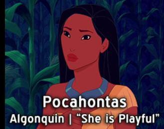 Pocahontas-15 Disney Princesses Names And Their Meanings In Different Languages