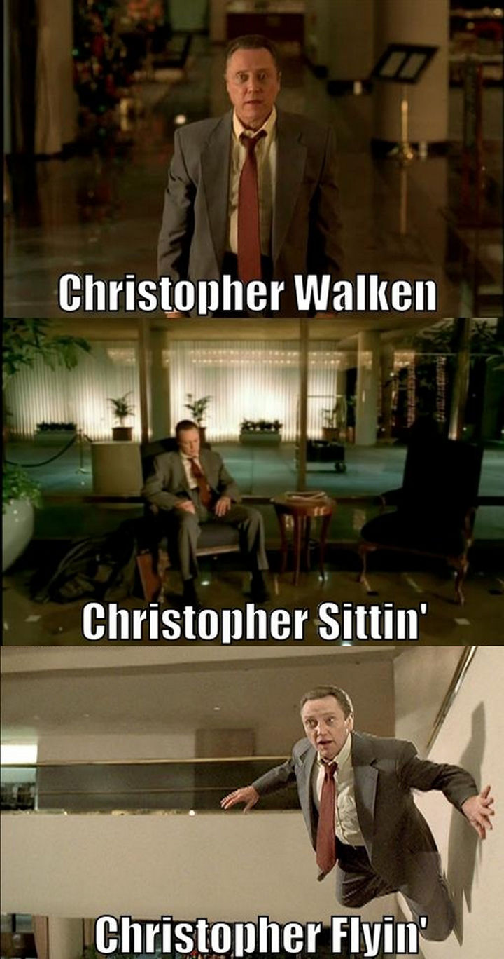Christopher Walken-15 Celebrity Name Puns That Are Hilarious