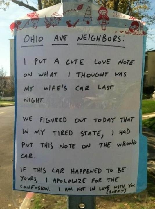 Sweet Apology, Isn't it?-12 Amazing Notes Ever Left By Neighbors