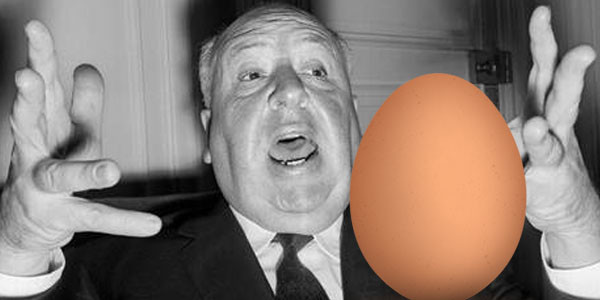 Alfred Hitchcock - Fear of Eggs-15 Celebrities With Weird Phobias