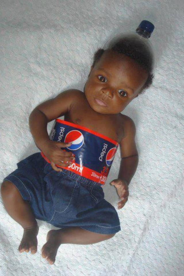 Pepsi Bottle Costume-15 Disgusting Kids Halloween Costumes Ever