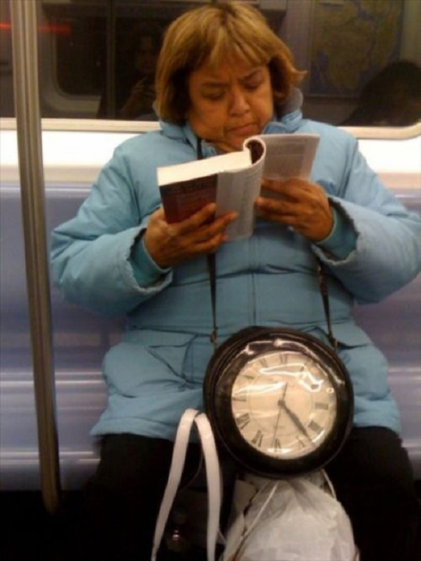 Gangsta Granny and Her Swagy Neckpiece-15 Most Awkward Public Transport Pictures