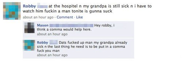 He Made His Poor Grandpa Gay-15 Punctuation Fails That Went Horribly And Hilariously Wrong