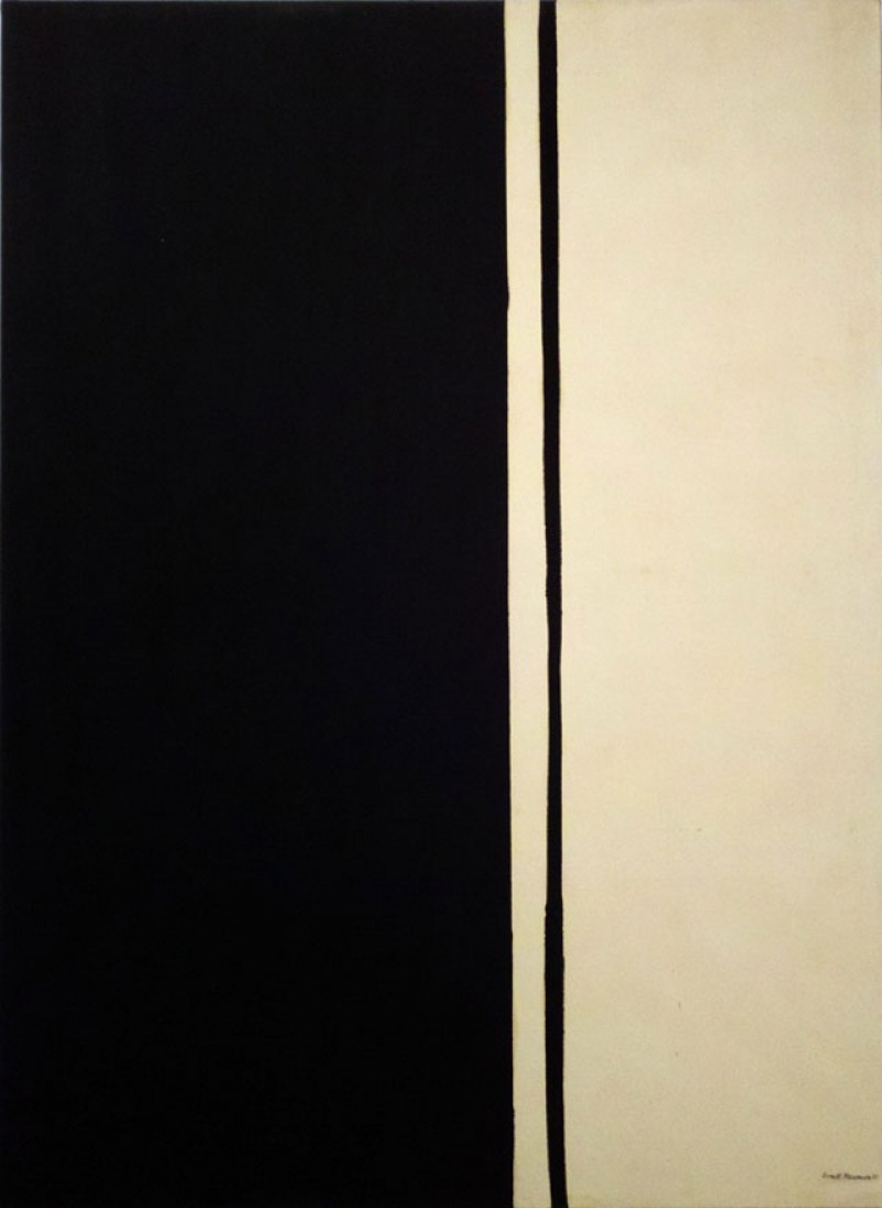 Black Fire 1 by Barnett Newman (.2 Million)-15 Ridiculous Paintings Sold For Millions Of Dollars