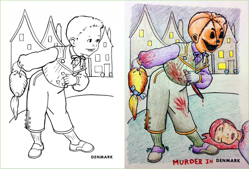 This Picture that Scares Anyone-15 Drawings That Show Dads Should Stay Away From Children's Coloring Books