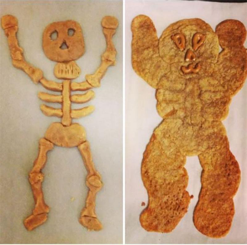 Skeleton Cookie-15 Funniest Halloween Recipe Fails