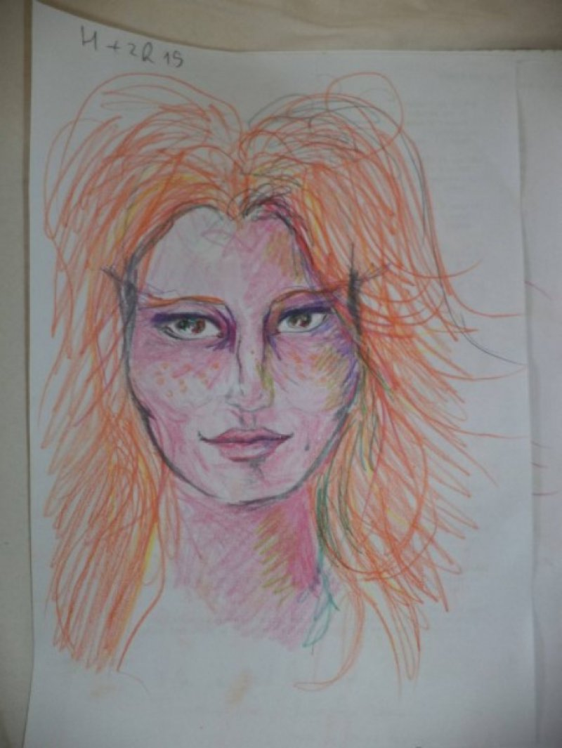 After 2 Hours and 45 Minutes-A Woman Draws Her Self Portraits During Her First Acid Trip