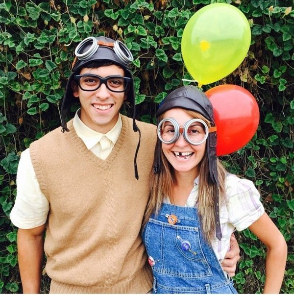 Carl and Ellie from Up Costume-Fifteen Halloween Couple Costumes That Are Super Amazing