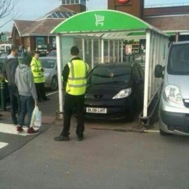 The Person Who Parked Car in a Trolley Bay-15 People Who Just Want To Watch The World Burn