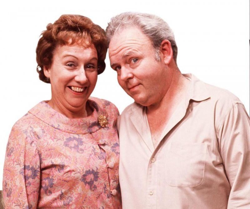 Archie & Edith Bunker - All In The Family-12 Greatest Fat Guy / Skinny Wife Couples On TV Shows