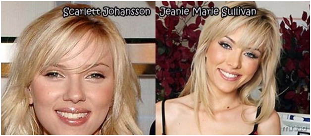 Scarlett Johansson Vs. Jeanie Marie Sullivan-Celebrities & Their Pornstar Lookalikes