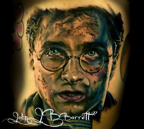 A detailed Harry-Best Harry Potter Tattoos