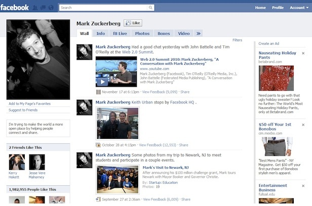 Fans-12 Pictures That Show Facebook Design Changes Over The Years