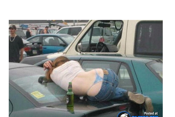 Trunk Of A Car-Funny Ways People Found Sleeping