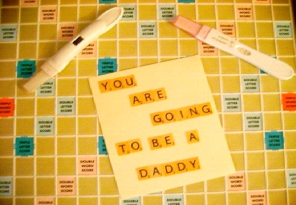 Scrabble Announcement-Creative Pregnancy Announcement Ideas