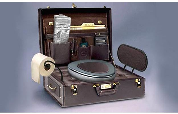 The briefcase-Amazing Toilet Seats