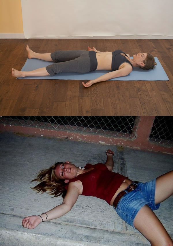 Lying down-Yoga Vs. Drunk Poses