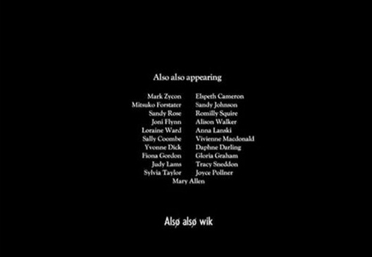 Also Also Appearing-12 Funny Little Moments Found In Movie Credits