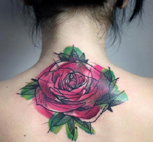 Roses Are Red-Amazing Watercolor Painting Tattoos