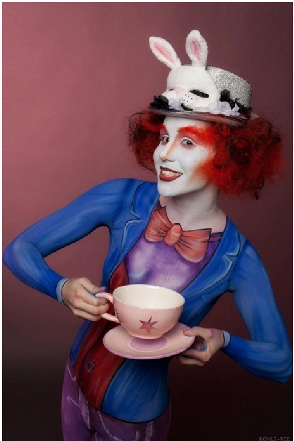 Mad Hatter-Disney Full Body Painting
