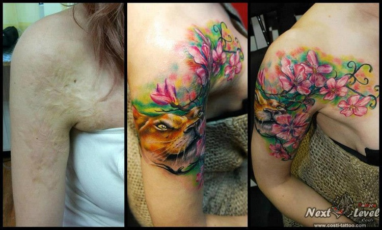 Pretty Amazing-Best Tattoos To Cover A Scar