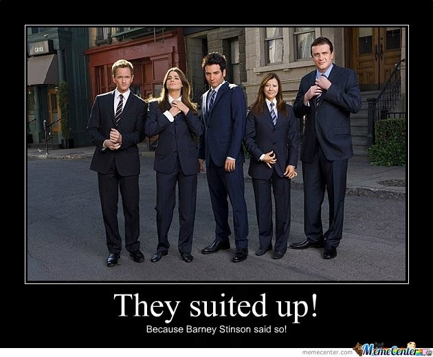 People in suits-12 Best How I Met Your Mother Memes