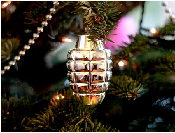 Grenade Ornament-Unusual And Funny Christmas Ornaments
